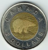 Canada, Elizabeth II, Two Dollars 1996, VF, WB6784